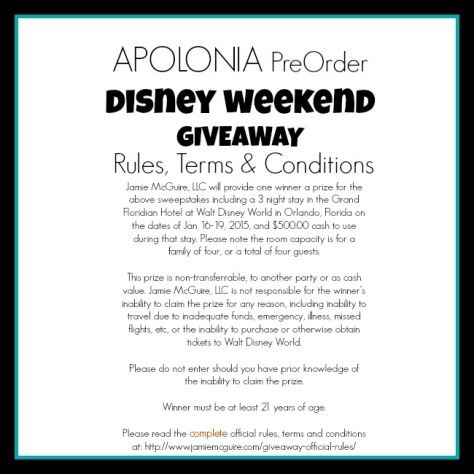 apolonia preorder giveaway OFFRULES