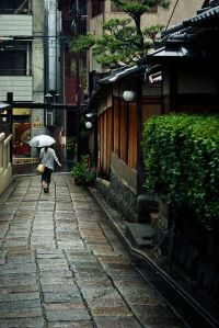 photo two - girl with umbrella in Japan